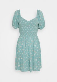 PRINTED SMOCKED PUFF - Day dress - green