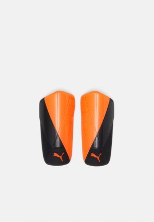 Shin pads - shocking orange/black white