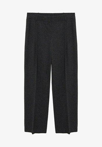COZY - Trousers - dunkelgrau meliert