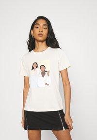 Gina Tricot - IDA TEE - T-shirts print - ecru - 0