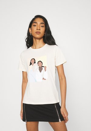 IDA TEE - Print T-shirt - ecru