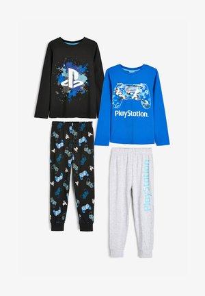 2 PACK  - Piżama - mottled royal blue