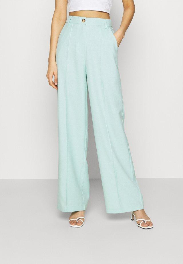 WIDE SUIT PANTS - Trousers - ice blue