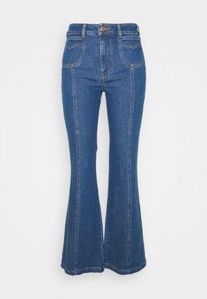 Široké džíny - truly navy
