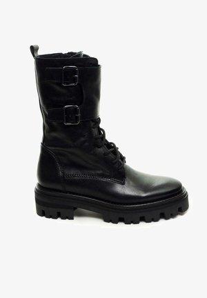 BOTAS MILITAR NEGRAS - Botines con cordones - black