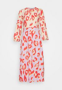 KIMONO MIDI DRESS - Maxi dress - peach