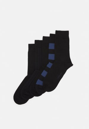 BLOCK STRIPE ANKLE SOCK  5 PACK - Strumpor - black beauty