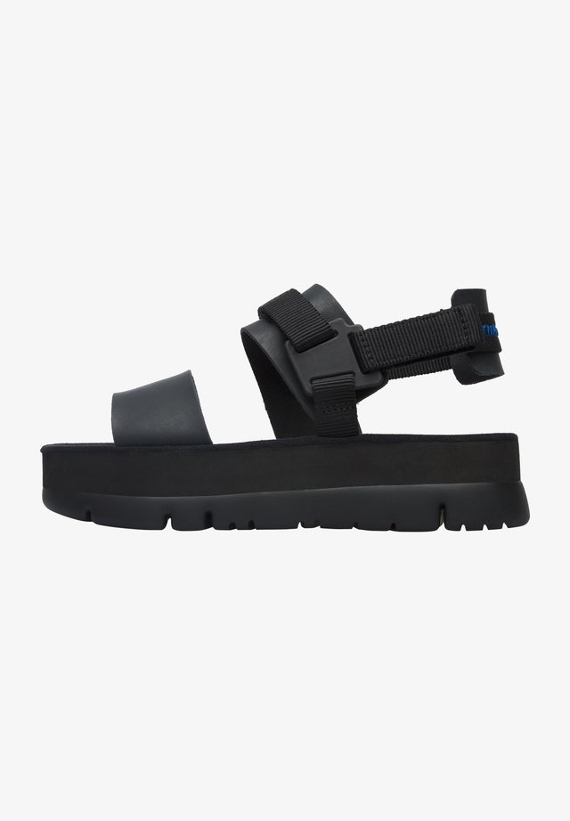 ORUGA UP - Sandalias con plataforma - schwarz