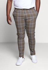 Topman - HERI CHECK - Pantalon de costume - brown - 0
