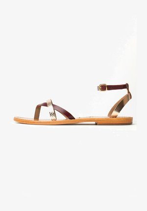 Sandals - burgundy gold