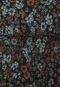 Simply Be - HIGH NECK SHIRRED WAIST MIDI DRESS - Day dress - black - 2