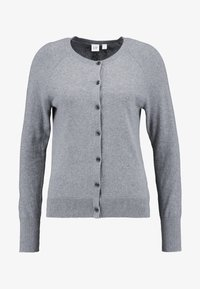 GAP - SLIM CREW CARDI - Chaqueta de punto - medium heather grey - 3