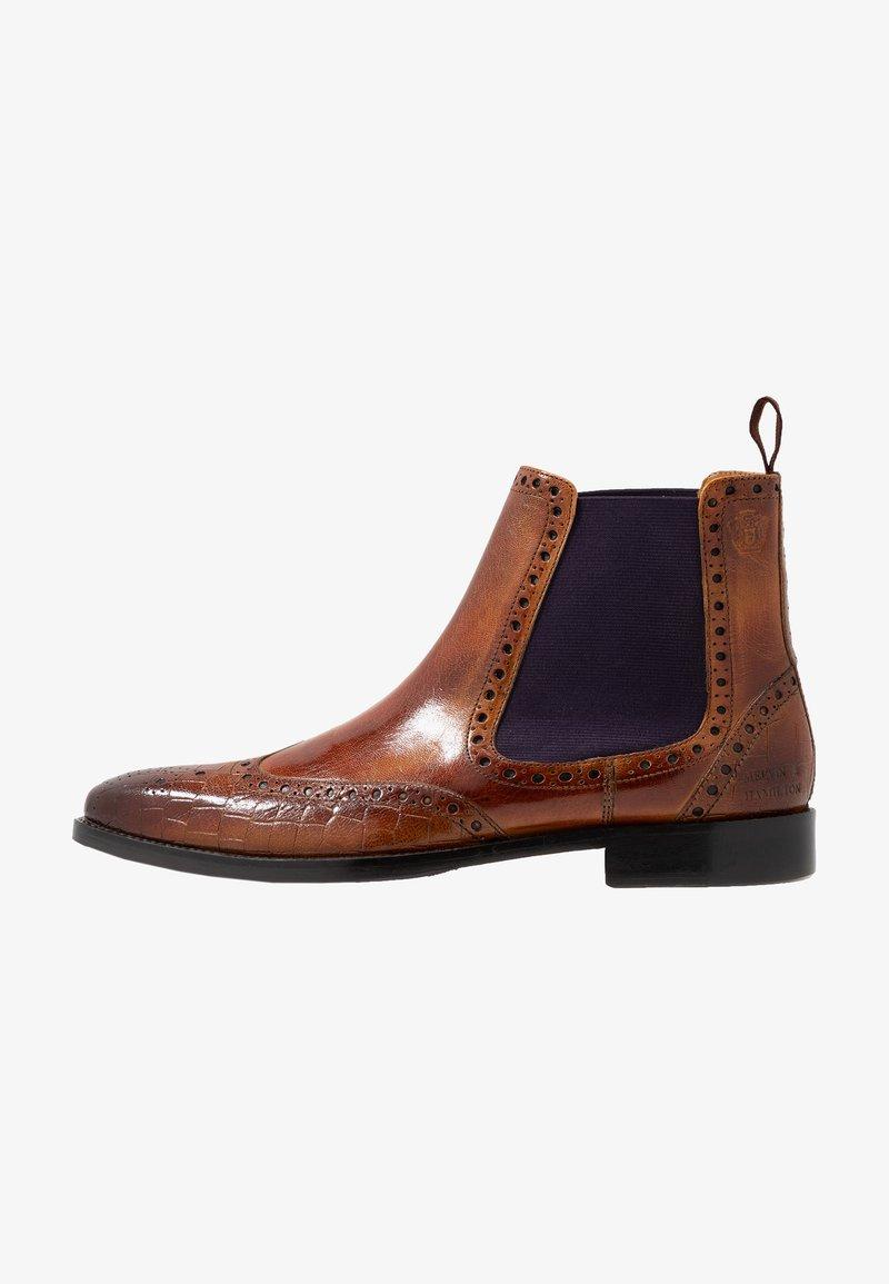 Melvin & Hamilton - MARTIN - Classic ankle boots - tan/purple/brown