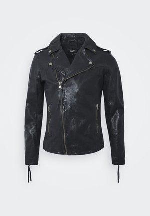 FABRICE - Leather jacket - black