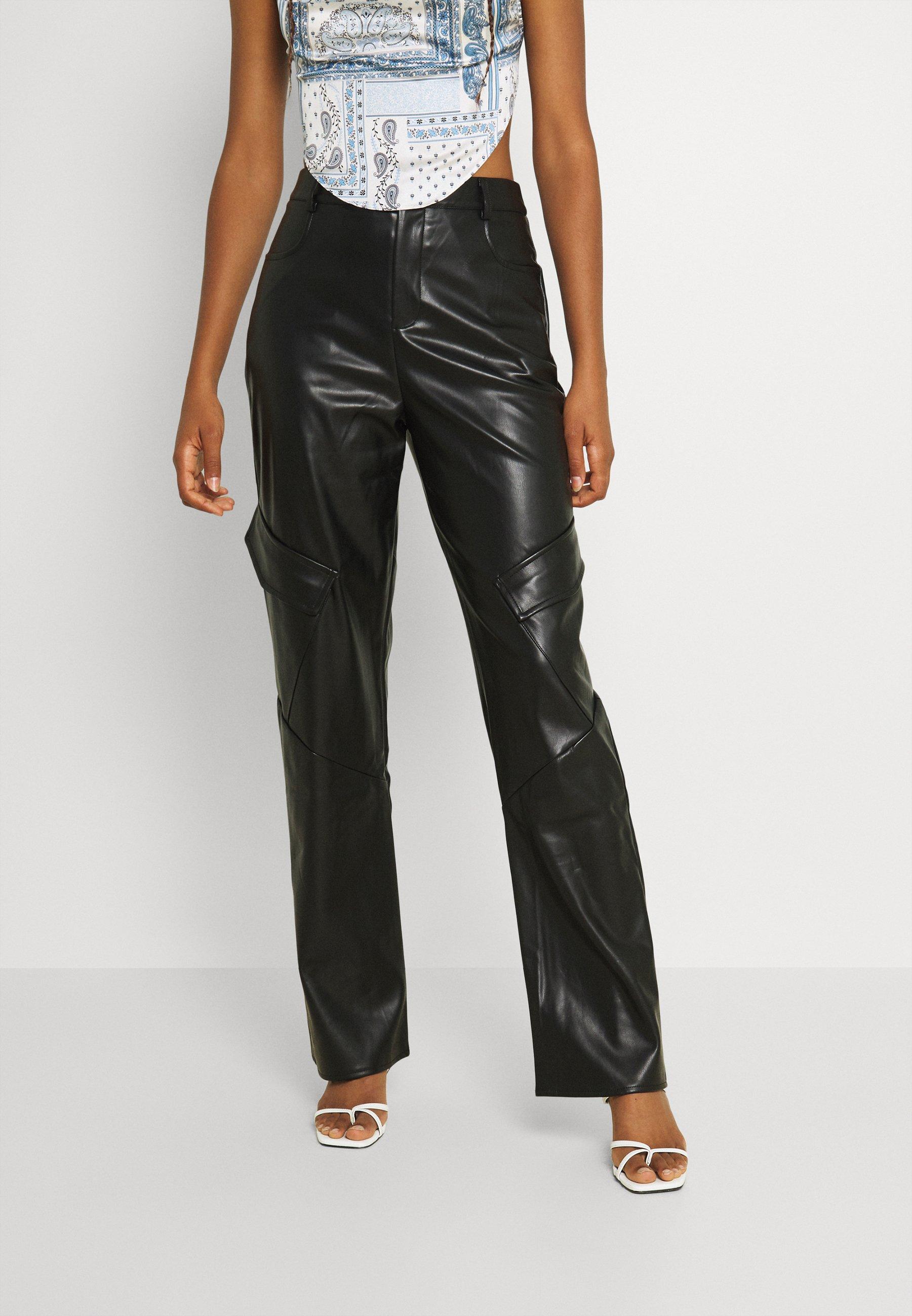 Femme POCKET DETAIL STRAIGHT LEG TROUSER - Pantalon classique