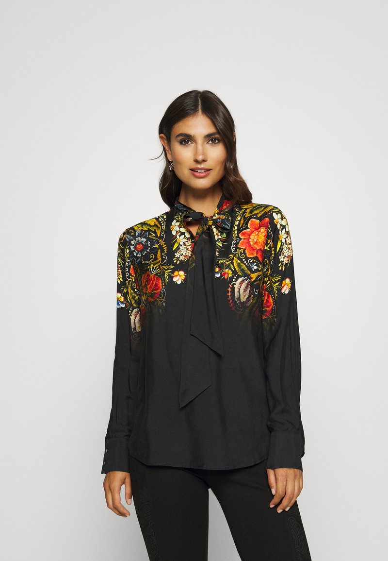 Desigual - BLUS LAUREN DESIGNED BY MR CHRISTIAN LACROIX - Bluzka - black