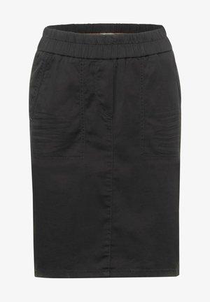 MINI ROCK IN UNIFARBE - Pencil skirt - grau