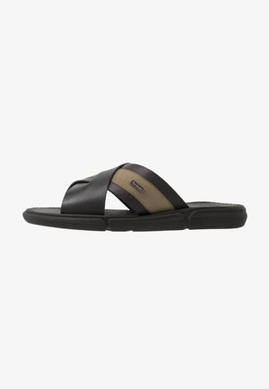 ALEX - Pantofle - black/olive