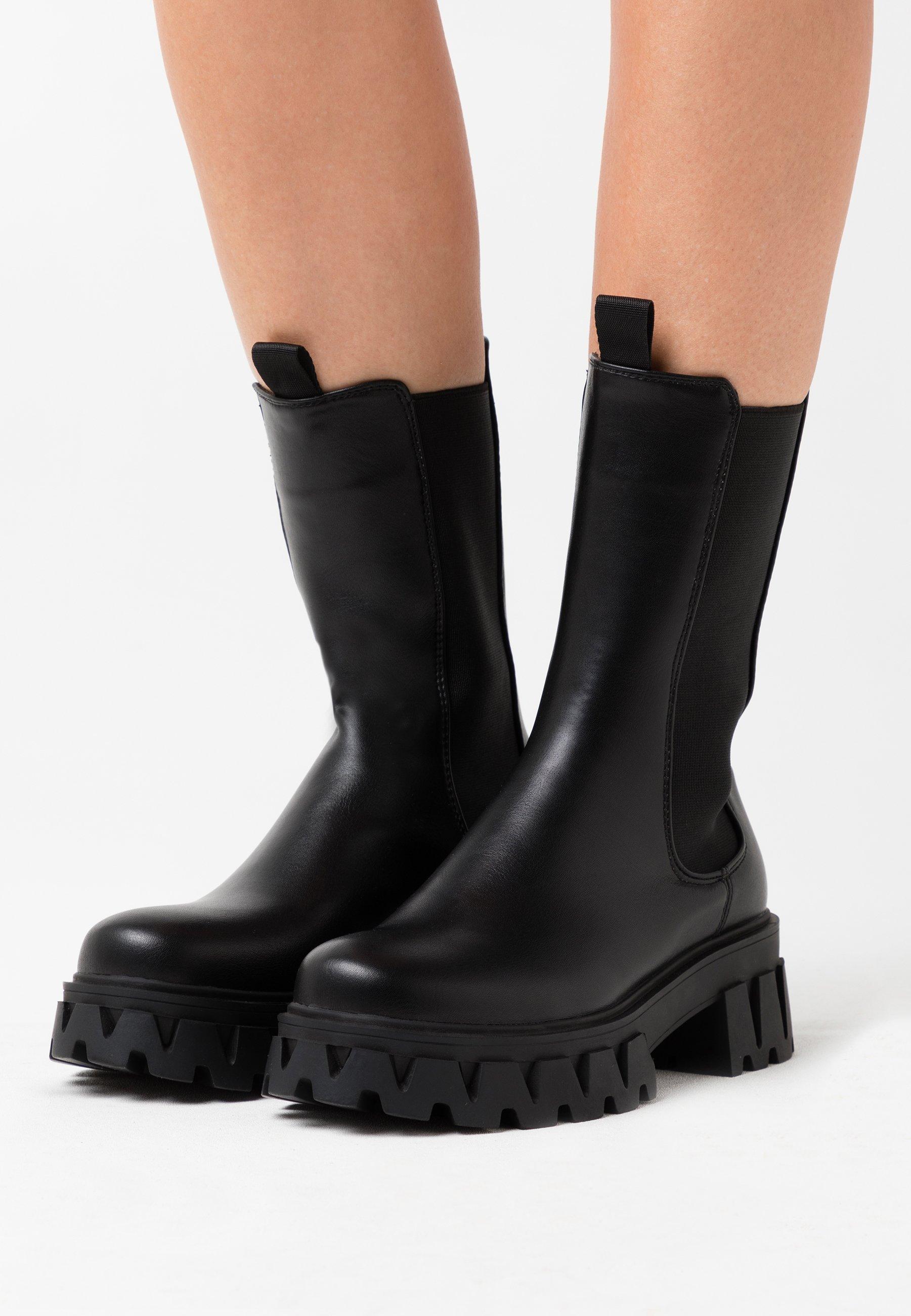 Koi Footwear Vegan Sentry Platform Boots Black Zalando Ie Good news gals, because koi footwear has just landed at bb! vegan sentry platform boots black