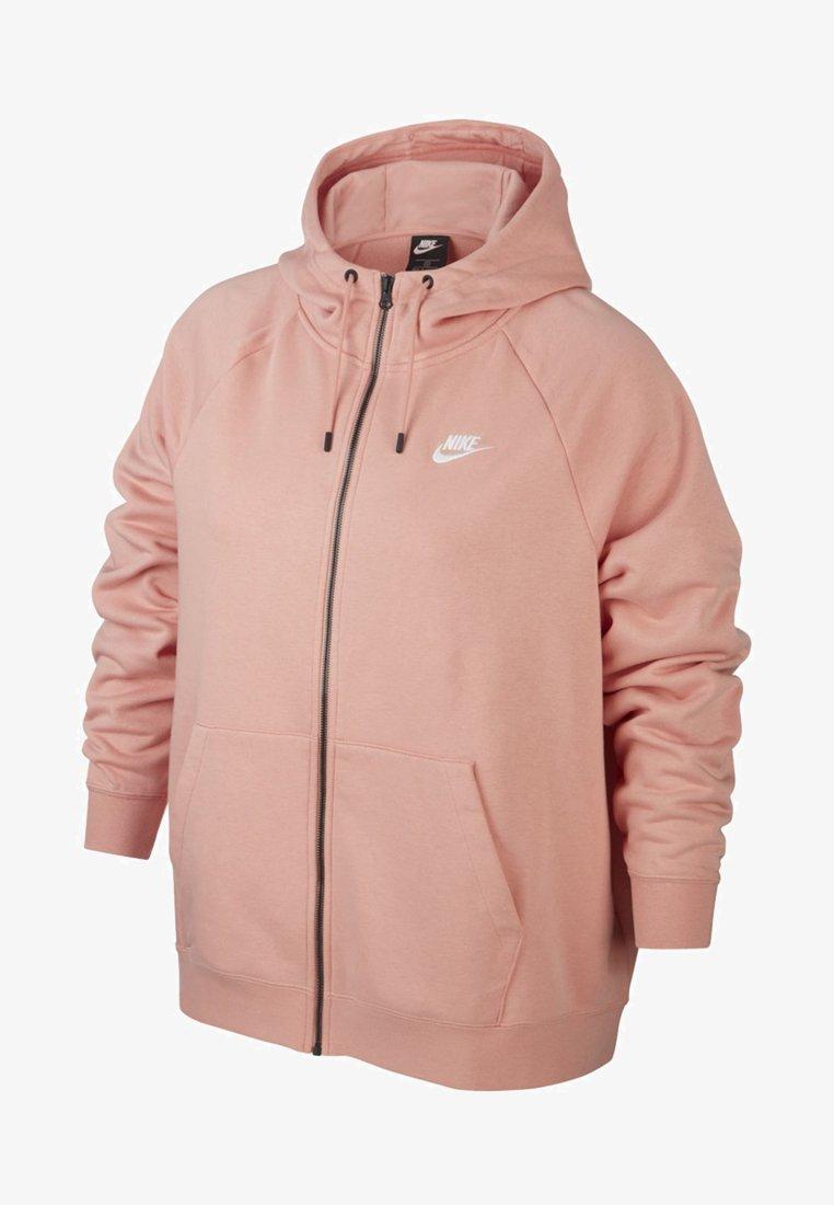 Nike Sportswear - HOODY - Zip-up hoodie - pink quartz/white