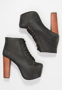 Jeffrey Campbell - Lace-up ankle boots - black - 3