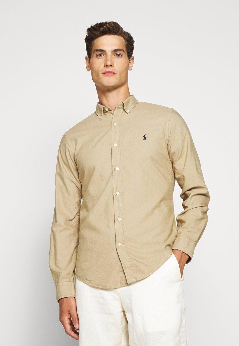Polo Ralph Lauren - SLIM FIT OXFORD SHIRT - Shirt - surrey tan