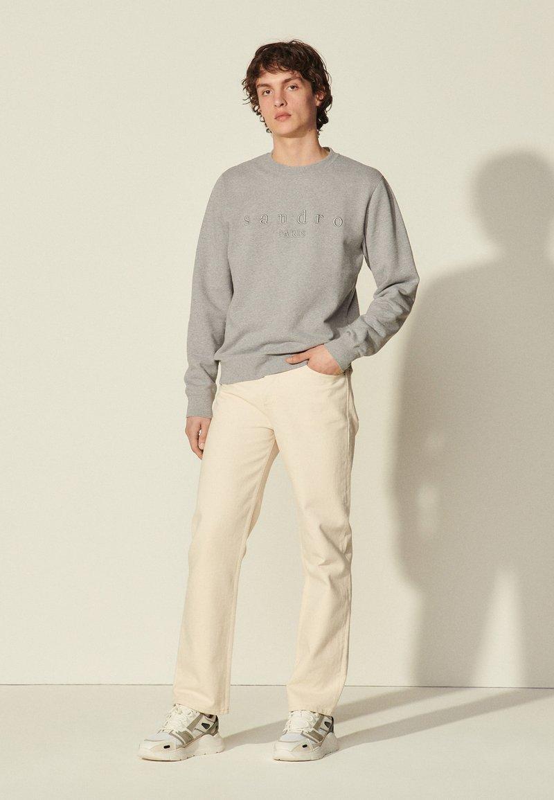 sandro - CREW  - Sweatshirt - gris chiné