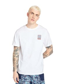 Timberland - OUTDOOR ARCHIVE GRAPHIC - Print T-shirt - white - 2