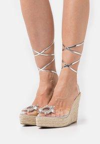 BEBO - LIZBETH - Platform sandals - clear - 0