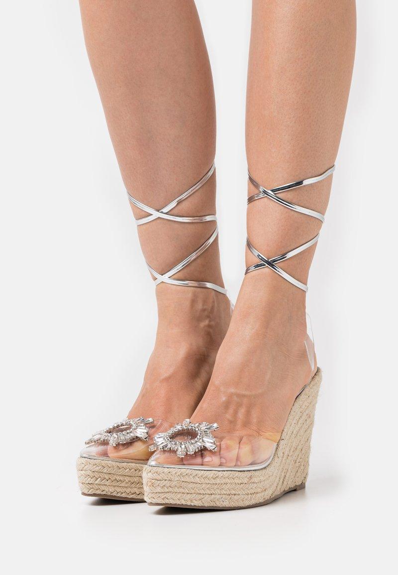BEBO - LIZBETH - Platform sandals - clear
