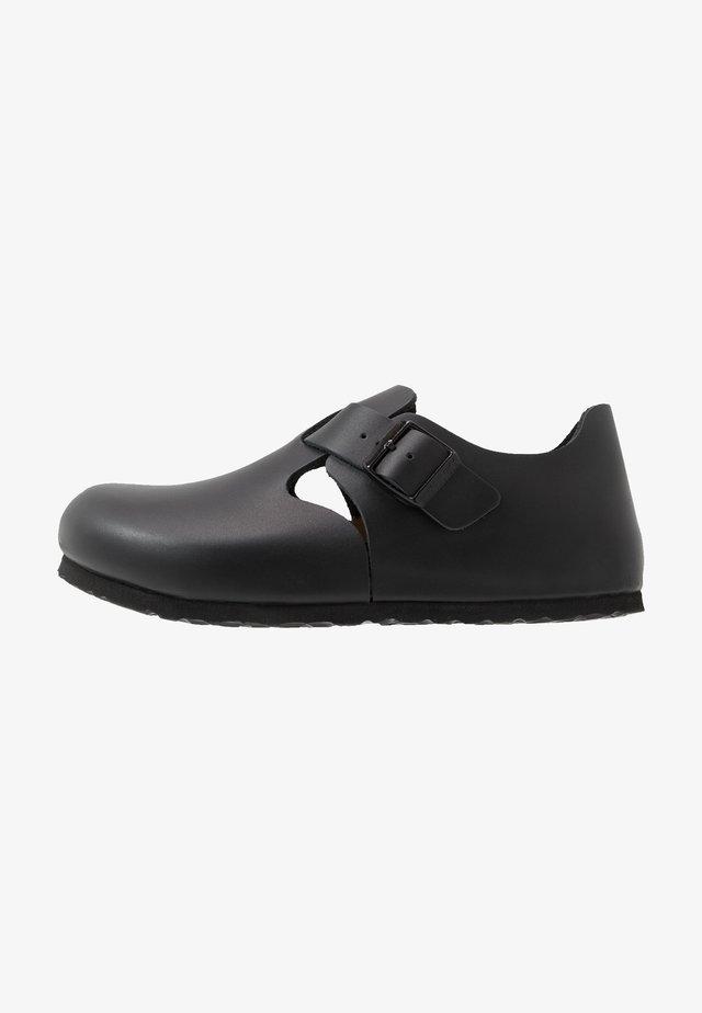 LONDON NARROW - Nazouvací boty - black anilin