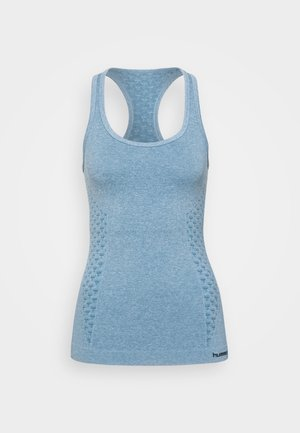 CLASSIC BEE SEAMLESS - Camiseta de deporte - faded denim melange