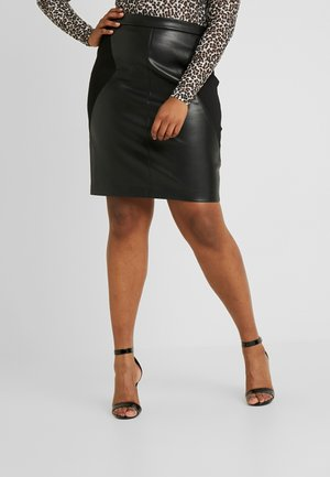 CARBEA MIX PENCIL - Pencil skirt - black