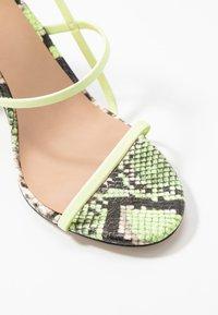 Call it Spring - IMPRESSA - High heeled sandals - light green - 2