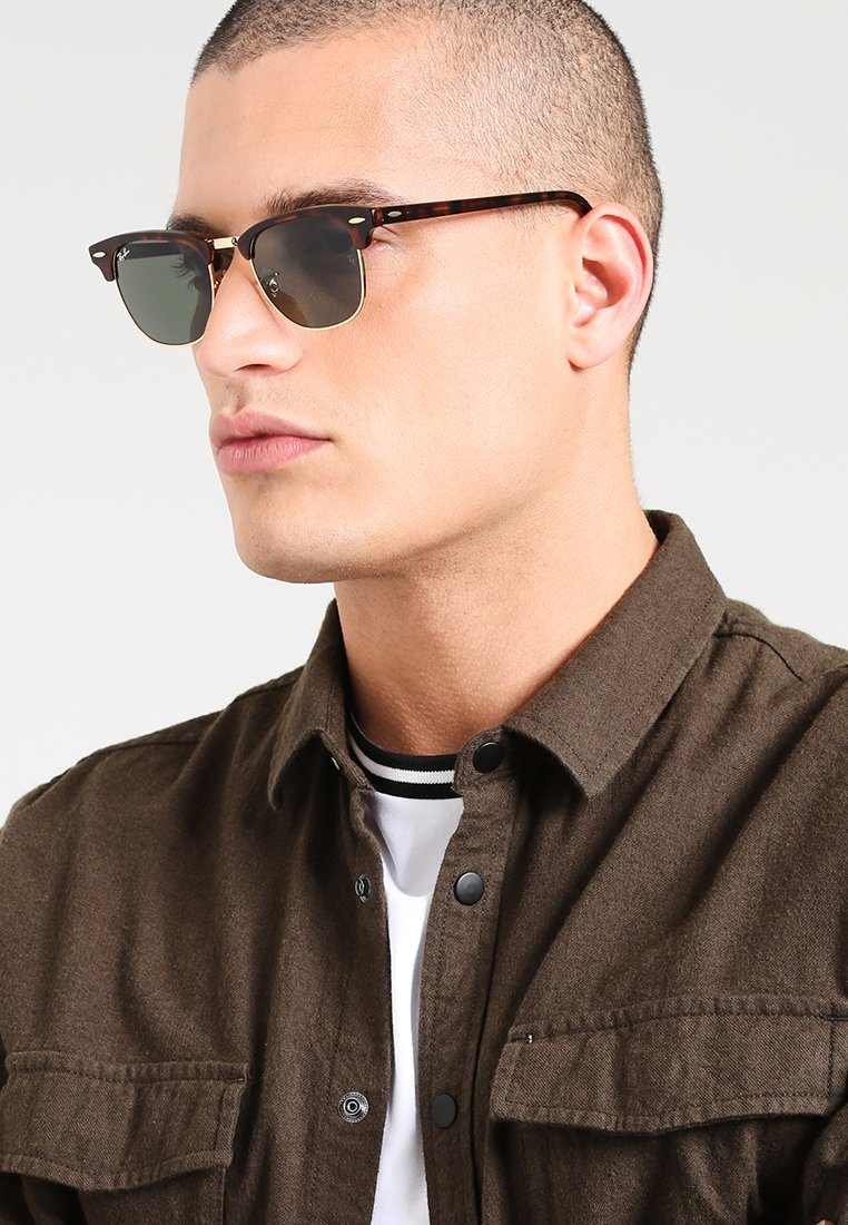 Ray-Ban - 0RB3016 CLUBMASTER - Sunglasses - braun/goldfarben