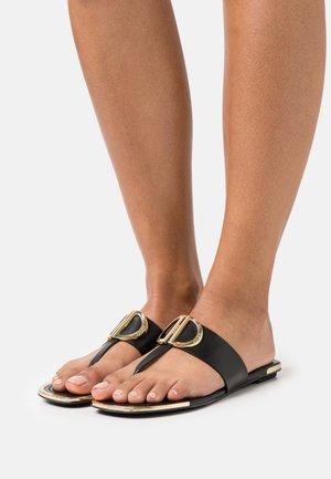HALCOTT - T-bar sandals - black