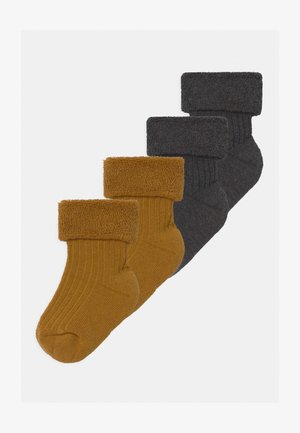 4 PACK - Socks - grey/mustard yellow