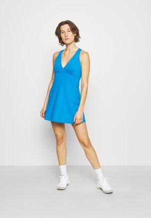 HALTER CROSS BACK TENNIS DRESS - Sports dress - sky aqua