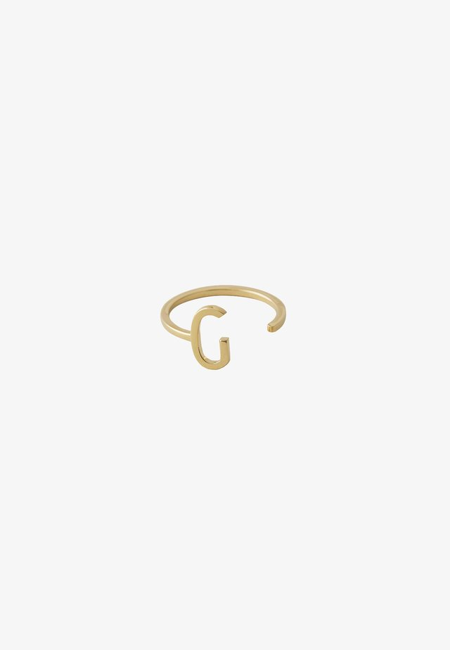 RING G - Ring - gold-coloured