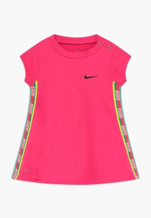 RAINBOW TAPING BABY - Jersey dress - hyper pink