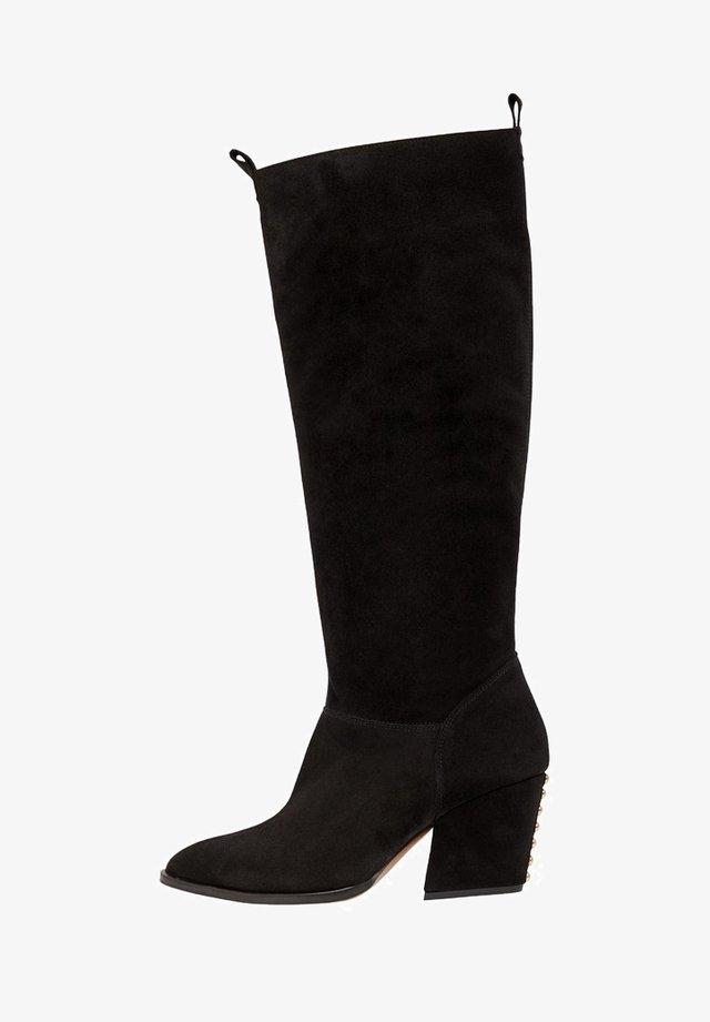 BIADELINA - Stivali alti - black