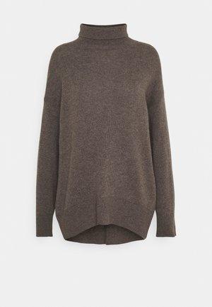 HIGH NECK OVERSIZED - Trui - heather brown