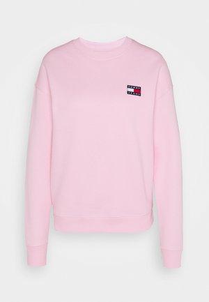 TOMMY BADGE CREW - Sweatshirt - romantic pink