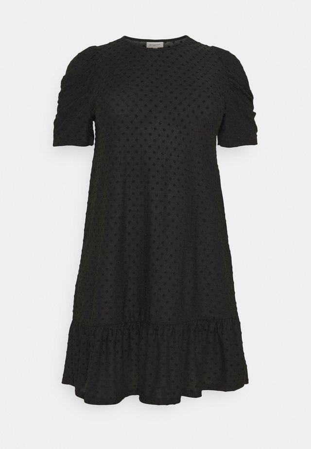 CARDIDDE PUFF KNEE DRESS - Sukienka z dżerseju - black