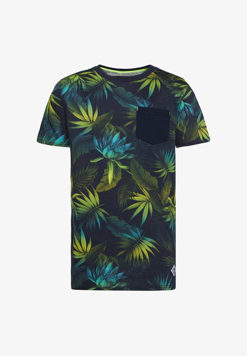 WE Fashion - MIT BLÄTTERMUSTER - T-shirt con stampa - multi-coloured