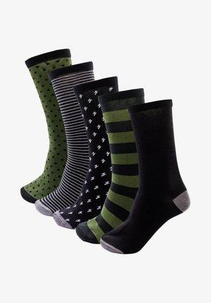 5-PACK KAKIGRÜNE SOCKEN - Socks - multi-coloured