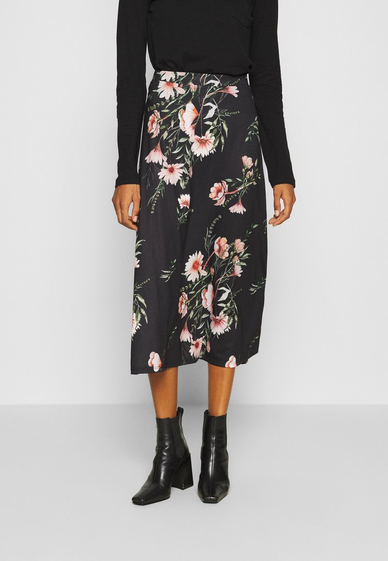 Anna Field - Maxi sukně - black/multicoloured