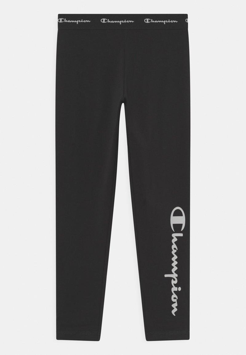 Champion - AMERICAN CLASSICS LOGO UNISEX - Leggings - Trousers - black/white