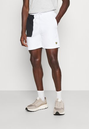 CONTRAST PANEL - Shorts - white