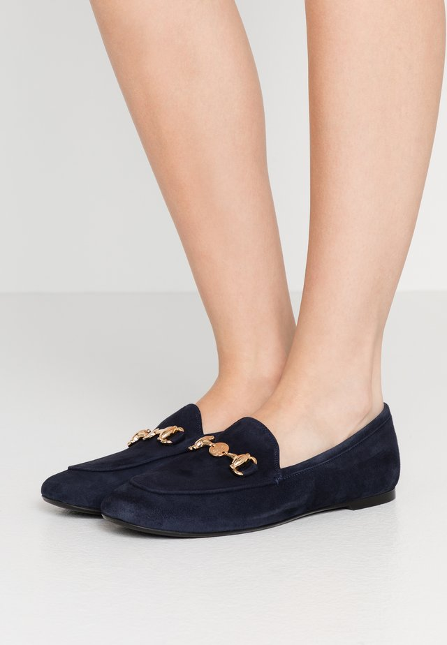 Loafers - navy blue/oro